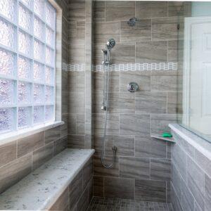 gray bathroom shower